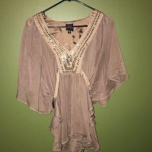 Brown 2b Bebe blouse